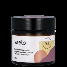 Rozświetlający peeling enzymatyczny do twarzy zkwasami owocowymi